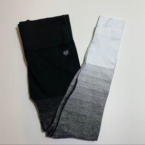 Forever21 black/white leggings size M